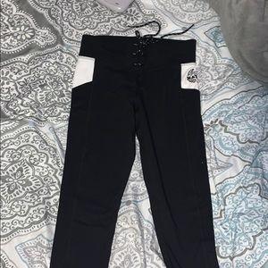 victorias secret PINK , xs black leggings